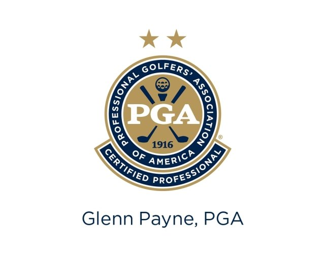 PGA Certified Professional logo with name Glenn Payne
